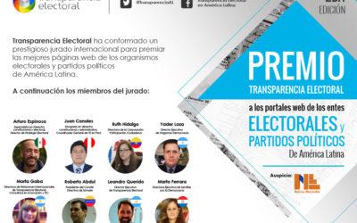 2da Edición Premios Transparencia Electorales a los portales de entes electorales y partidos políticos.