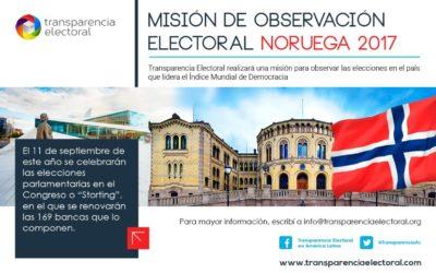 Transparencia Electoral prepara su Misión de Observación Electoral a Noruega 2017