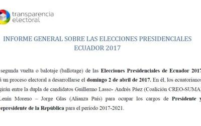 Informe Final: MOE Ecuador 2017