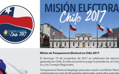Informe Exclusivo de Transparencia Electoral: Elecciones Generales Chile 2017