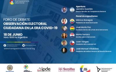 Foro de debate: Observación Electoral Ciudadana en la era Covid-19