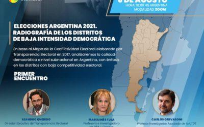 Foro «Elecciones Argentina 2021. Radiografía de los distritos de baja intensidad democrática»