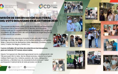 Transparencia Electoral observó el voto de los bolivianos en el exterior