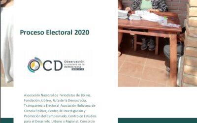Alianza de Observación Ciudadana de la Democracia (OCD) presentó el informe final sobre el monitoreo a las elecciones generales de Bolivia 2020