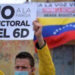 Venezolanos en Bogotá protestaron contra elecciones legislativas de Maduro (Revista Semana)