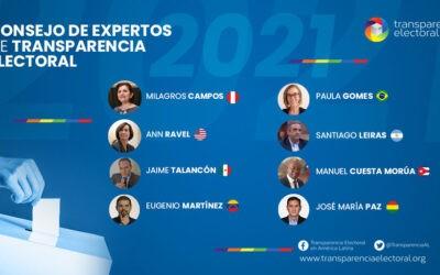 Transparencia Electoral presenta su Consejo de Expertos para 2021
