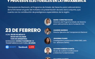 """Transparencia Electoral te invita a la presentación del libro """"COVID-19, Estado de Derecho y Procesos Electorales en Latinoamérica"""""""
