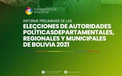 Informe Preliminar de las Elecciones Subnacionales de Bolivia 2021