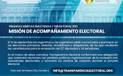 Misión de acompañamiento electoral para las elecciones primarias de Argentina