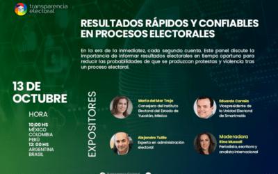 Transparencia Electoral te invita al webinar «Resultados rápidos y confiables en procesos electorales»