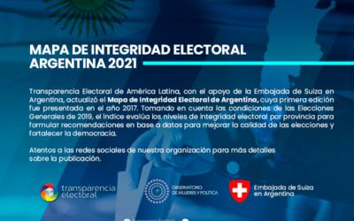 Transparencia Electoral presenta segunda edición del Mapa de Integridad Electoral Argentina 2021